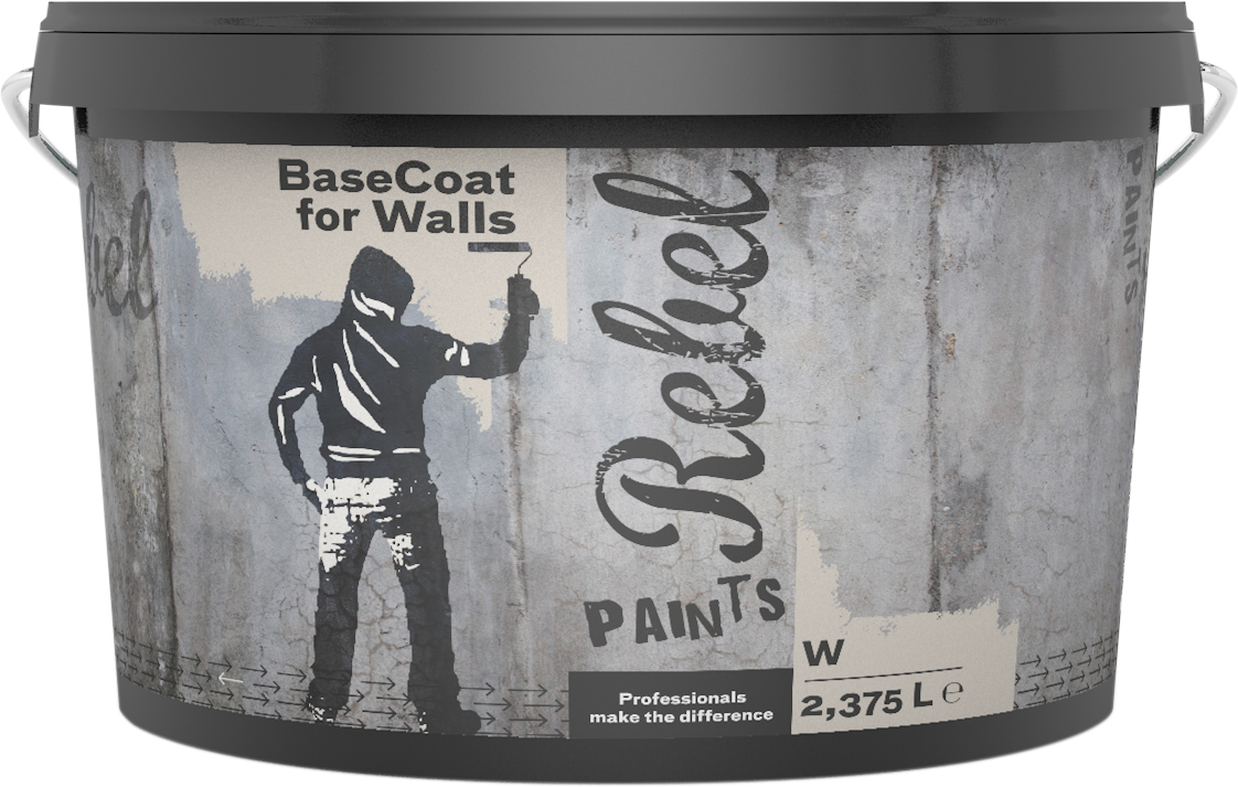 REBEL PAINTS BASECOAT FOR WALLS BS W 2.375L